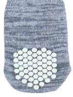 Носок для собак , размер XS-S, 2 шт., хлопок, серый, чихуахуа