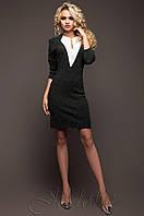 Серое оригинальное платье из ангоры Женим 42-48 размеры Jadone