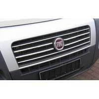 Fiat Ducato 2006+ и 2014+ гг. Хром полоски для радиаторной решетки (6 шт, нерж)