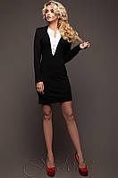 Черное оригинальное платье из ангоры Женим 42-48 размеры Jadone