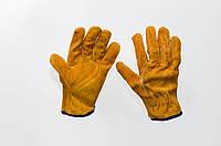 Перчатки кожаные сварщика краги (замш корич.)