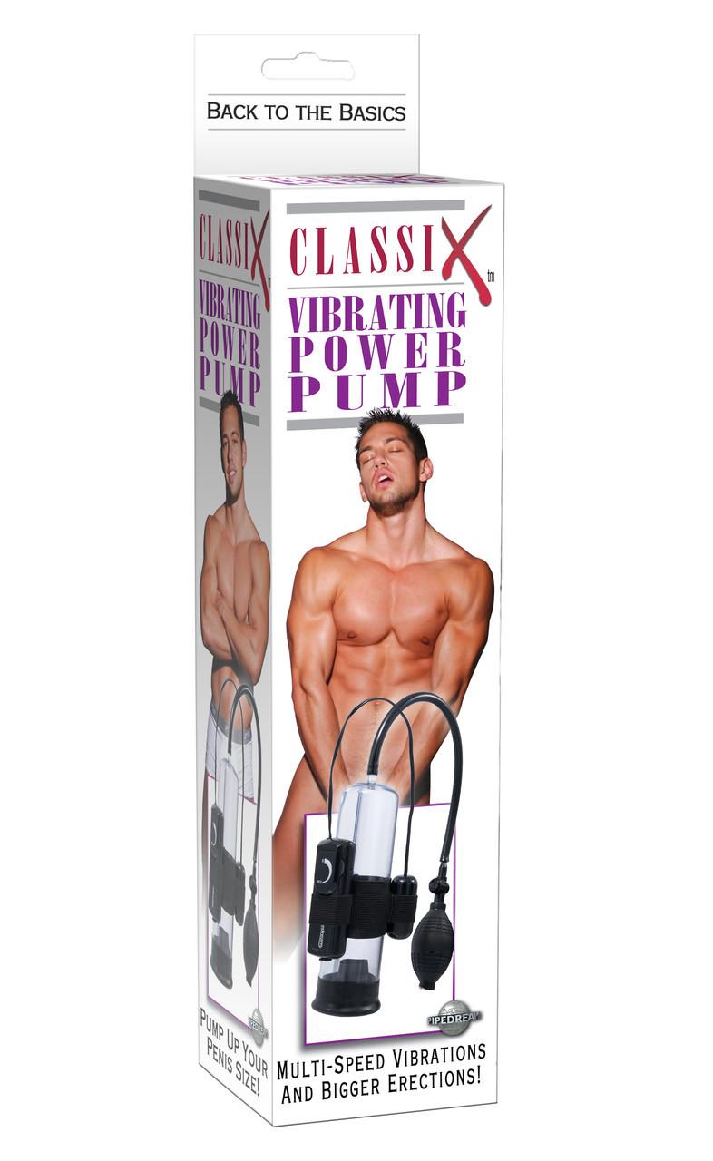 Классическая помпа для мужчин с вибрацией Classix Vibrating Power Pump