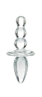 Стеклянный анальный стимулятор Glas Titus Beaded Glass Butt Plug