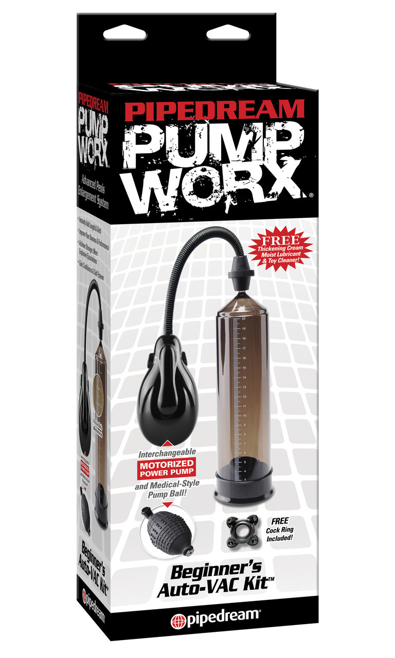 Автоматический вакуумная помпа для мужчин + груша Pump Worx Beginner's Auto VAC Kit