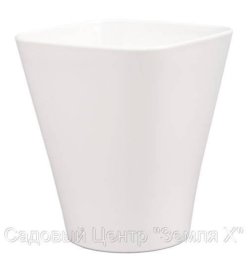 Кашпо, доставка из Одессы квадро, 130 мм, белый