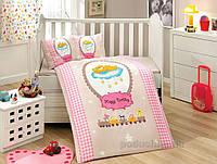 Детское постельное белье Hobby Bambam розовое Детский комплект