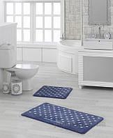 Набор ковриков в ванную комнату Marie Claire Lodi темно-синий