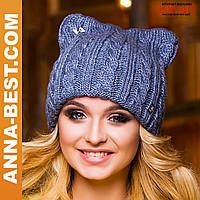 Женская шапка красивая вязаная