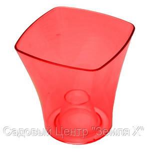 Кашпо, доставка из Одессы квадро, 135 мм, красный