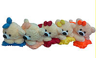 Мягкая плюшевая игрушка Мишка малышка ММ18-13 (персиковая с лимонным)