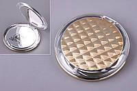 """Зеркало карманное круглое 8,5х8,5 см. """"Cosina"""" золотистое, пластиковое"""