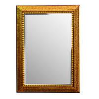 """Зеркало настенное в раме прямоугольное 80х110 см. """"Рама"""" золотистое, из полистоуна"""