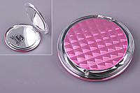 "Зеркало карманное круглое 8,5х8,5 см. ""Cosina"" розовое, пластиковое"