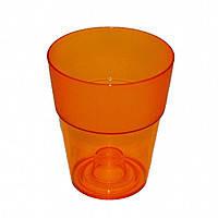 Кашпо, доставка из Одессы коло, 135 мм, оранжевый