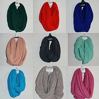 Женский зимний шарф хомут в ассортимнете от 5 шт.Все цвета в наличии! На ваш выбор!