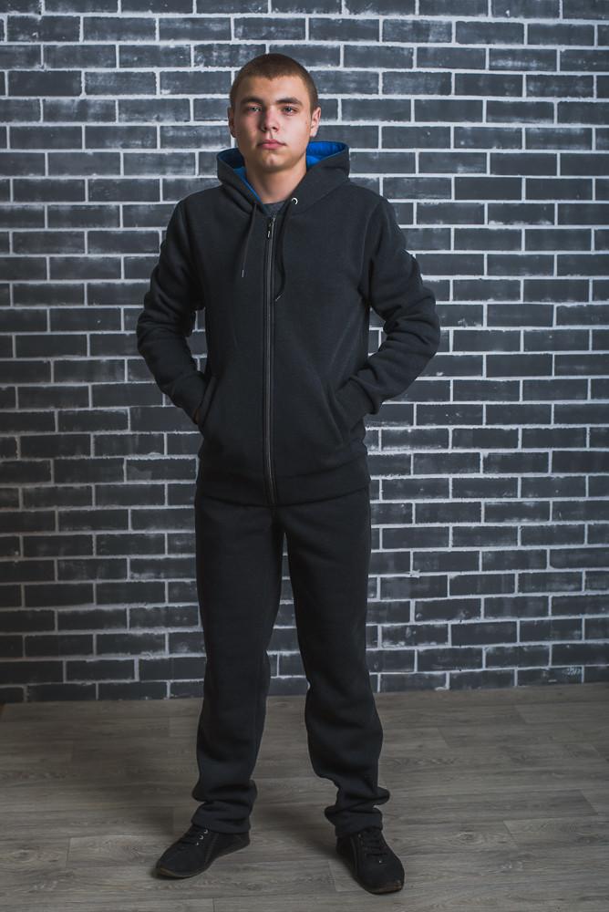 Спортивный мужской костюм с начесом темно-серый