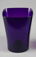 Кашпо, доставка из Одессы квадро, 130 мм, фиолетовый