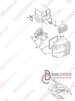Плата заднего фонаря Volkswagen Transporter IV (1990-2003) 701 945 257 VW 701945257