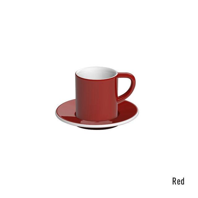 Чашка и блюдце под эспрессо Loveramics Bond Red (80 мл  )