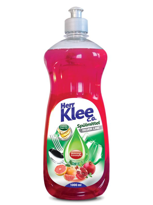 Herr Klee жидкость для мытья посуды 1 л Гранат и Грейпфрут
