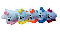 Мягкая плюшевая игрушка Мишка малышка ММ18-13 белый с розовым(игрушка мишка)