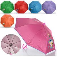 Зонтик детский MK 0525 длинна 55 см, трость 68 см, диаметр 90см, спица 48,5см, защита от солнца, ткань, 6 вид