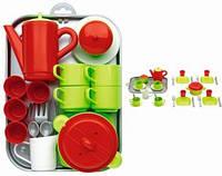 Игровой набор Chef-Cook с посудой и подносом, 32 аксес., 18 мес