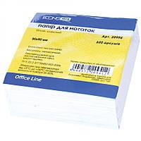 Бумага для заметок белая 90*90 нескленная, 500 л