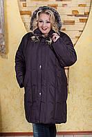 Д9126 Пальто на холлофайбере батал зима размеры 58-66
