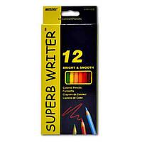 Карандаши цветные Superb Writer, 12 цветов
