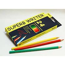 Карандаши цветные Superb Writer, 24 цвета