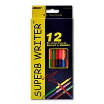 Карандаши цветные  двусторонние       Superb Writer       , 24 цвета