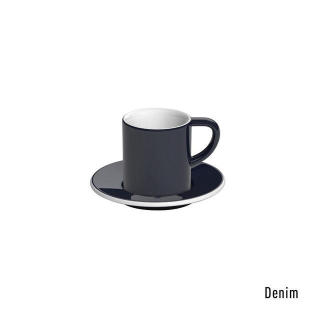 Чашка и блюдце под эспрессо Loveramics Bond Denim (80 мл)