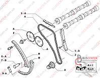 Планка успокоителя цепи ГРМ (башмак) Fiat Ducato 250 (2006-……) 504084528