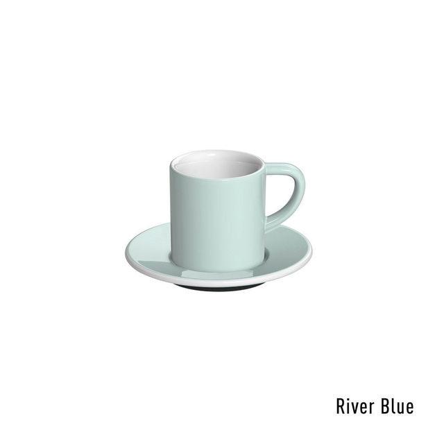 Чашка и блюдце под эспрессо Loveramics Bond White (80 мл  )