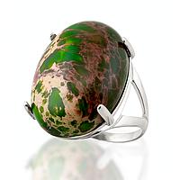 Варисцит зеленый, серебро 925, кольцо, 106КВ