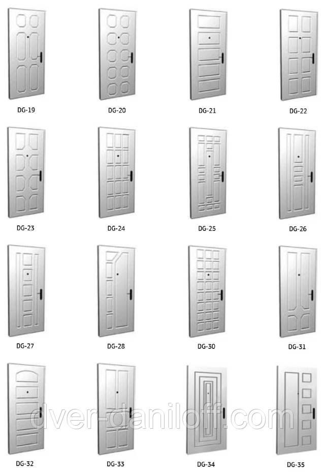 Каталог МДФ накладок на входные двери