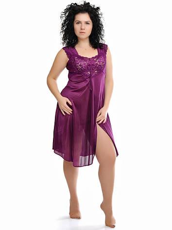 Сиреневая ночная рубашка 77704-86, фото 2