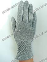 Трикотажные перчатки жаткаи серые