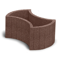 Цветочница бетонная 660х450 мм коричневая