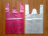 Фасувальні поліетиленові пакети майка 24х42 см/ 8 мкм оптом від виробника, фото 2