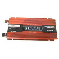 Преобразователь UKC авто инвертор 12V-220V 1000W LCD KC-1000D