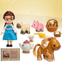 Кукла набор Disney Animators' Collection Belle Mini Doll Play Set - 5''