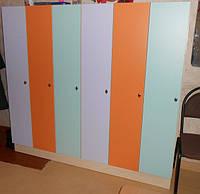 Шкафы и лавочки для детского сада