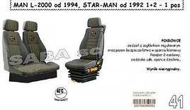 Чохли MAN L-2000 від 1994, STAR MAN від 1992 1+2 1рем/2505