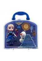 Кукла набор Ельза Disney Animators' Collection Elsa Mini Doll Play Set - 5''