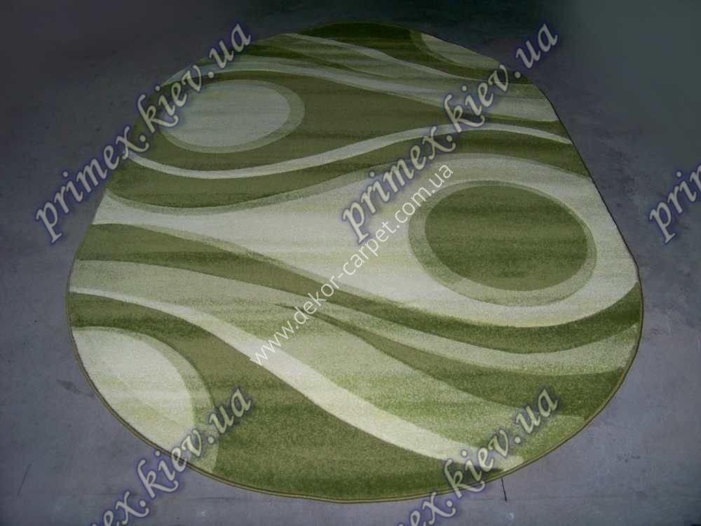 """Рельефный ковер Фрузе """"Глаз"""", цвет зеленый"""