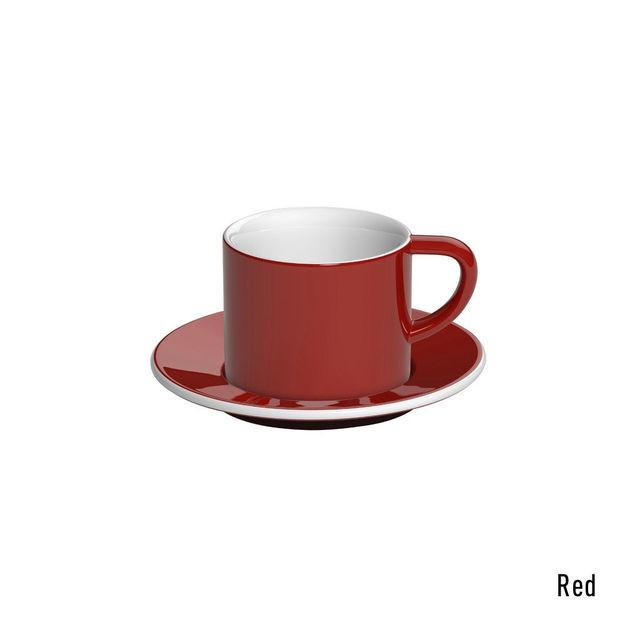 Чашка и блюдце под капучино Loveramics Bond Red (150 мл)