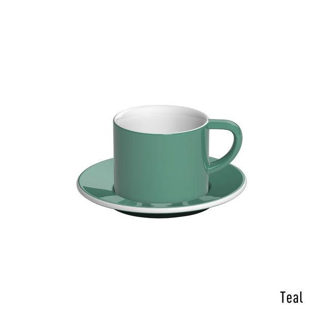 Чашка и блюдце под капучино Loveramics Bond Teal (150 мл)