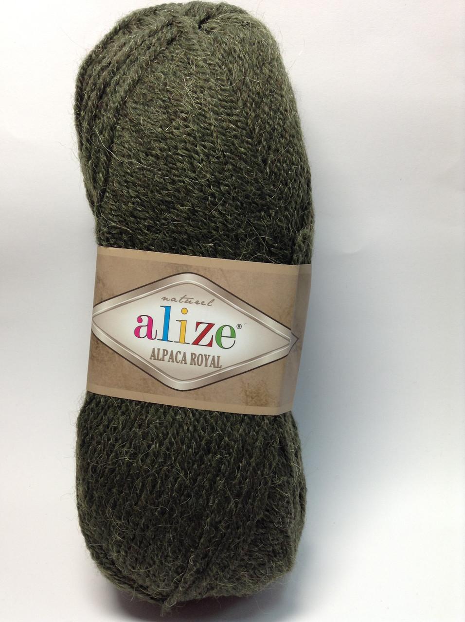 Пряжа alpaca royal - цвет темно-зеленый